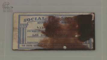 Lee Harvey Oswald's Social Security card