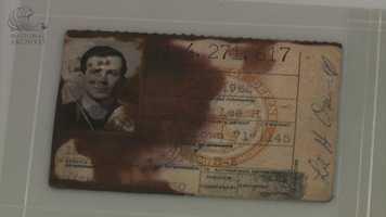 Lee Harvey Oswald's Marine Corps identification card.