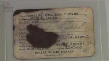 Lee Harvey Oswald's Dallas Public Library card.