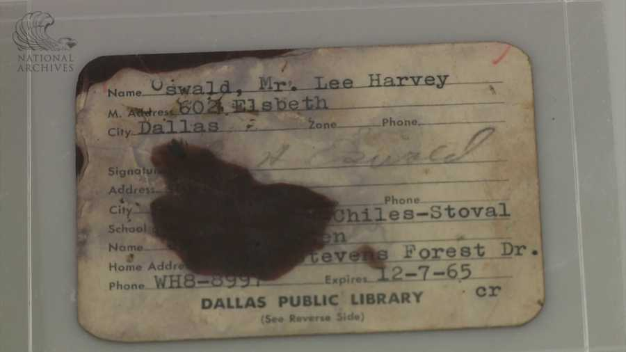 Lee Harvey Oswald's Dallas Public Library card.