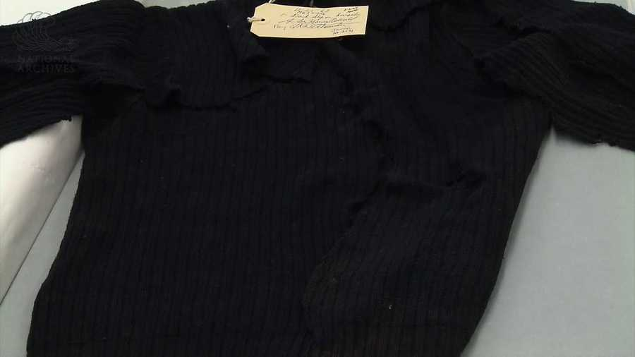 The black sweater that Oswald was wearing when he was shot.
