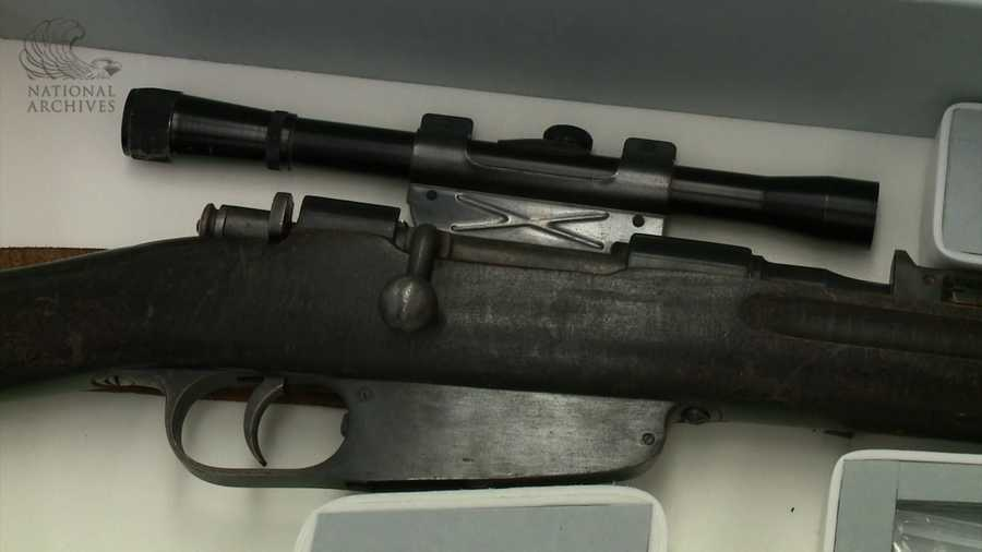 The rifle was seen in a photo of Oswald, taken by his wife Marina, in March 1963.