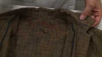 The shirt that Oswald was wearing when arrested by Dallas Police.