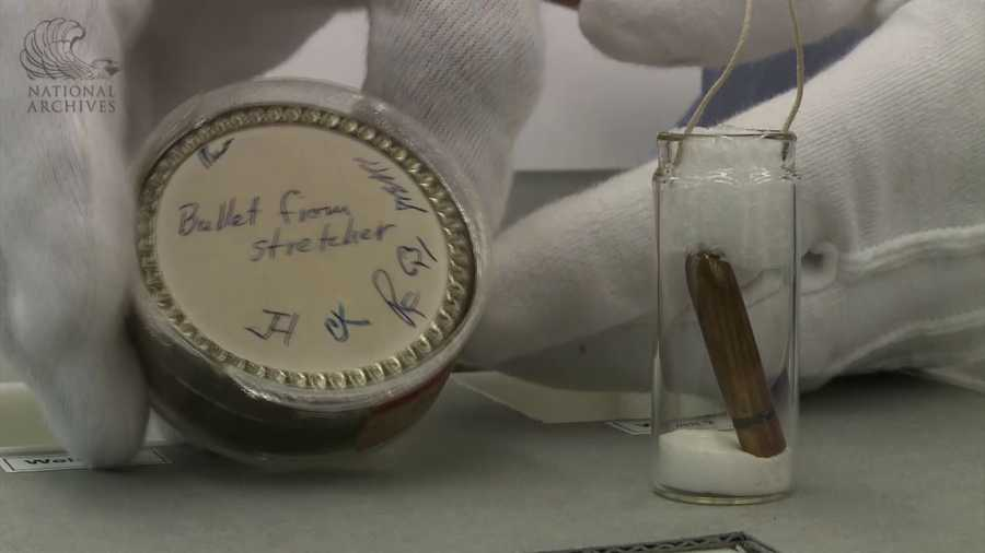 "The so-called ""Magic Bullet"" found on a stretcher at Parkland Hospital after President Kennedy's death."
