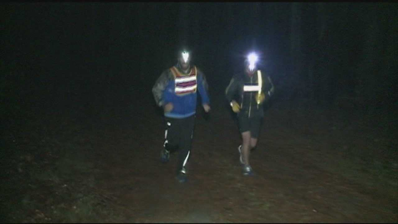 A Granite State student is close to finishing his goal of running 215 miles for a cause.