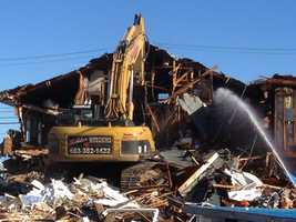 After 90 years, the old fire station in Hampton has been demolished. Check out images of the demolition.