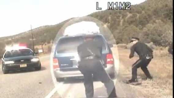 (img1)National video - NM POLICE SHOOT AT VAN W KIDS DURING TRAFFIC STOP