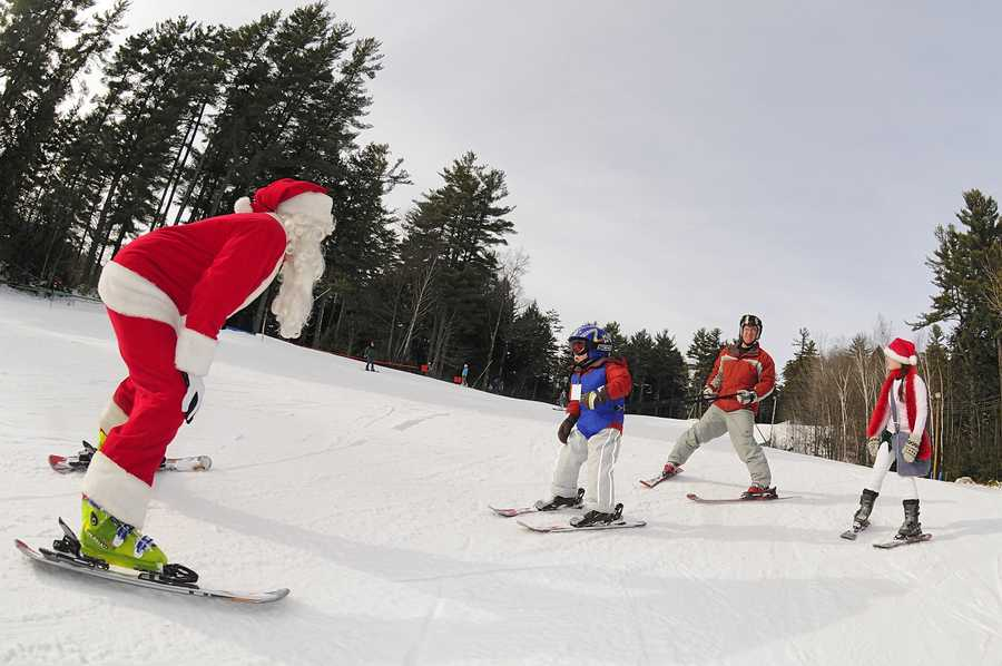 Dec. 21, 22 King Pine Santa DaysSanta Claus will be hitting the slopes to pass out candy canes.