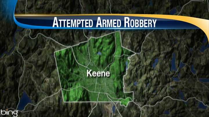 map-Keene attempted armed robbery