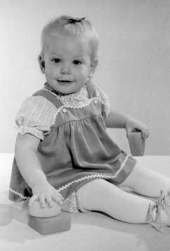 Jennifer Vaughn as a baby