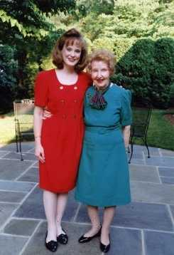 Jean Mackin with her grandmother