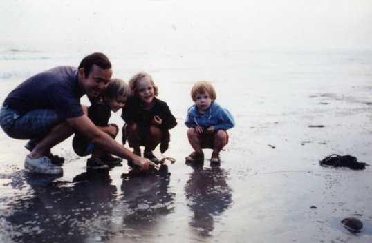 Jean Mackin at the beach