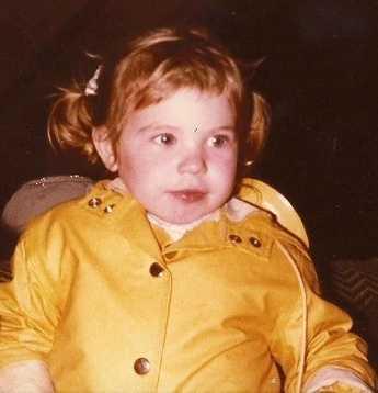 Jennifer Gannon as a kid