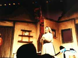 Erin Fehlau in her school play