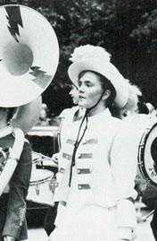ErinFehlau in her marching band