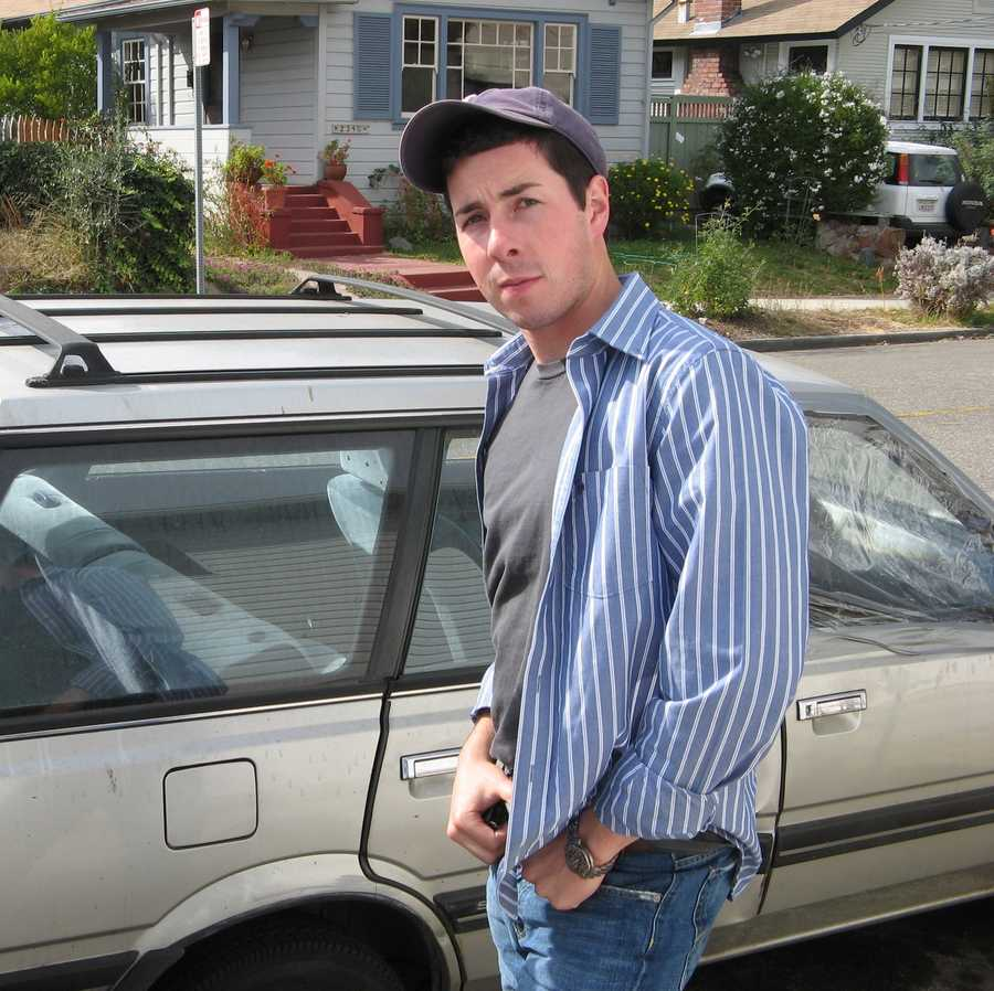 Adam Sexton with his first car