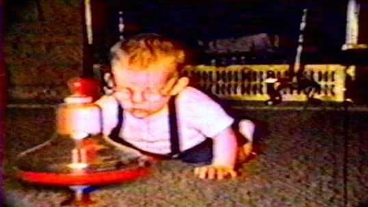Tom Griffith as a baby