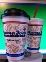 Tie-4) Aroma Joe's Coffee in several New Hampshire locations