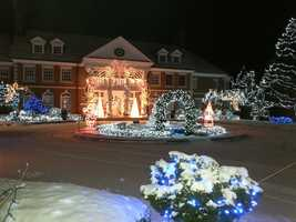 Chesterfield: 140 Pond Brook Road. This private estate is open from 6pm to 9pm from December 13th to 22nd.