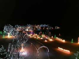 Chesterfield: 140 Pond Brook Road. The display is about a half mile long and includes over 75 holiday and winter scenes. (Photo courtesy of Wilcox Tree Service in Chesterfield)