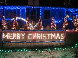 Claremont: Francis Street. It takes 6 weeks to set up this display and 3 days to take it down. http://www.claremontchristmaslights.com