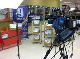The 2013 Spirit of Giving Food Drive kicked off in several Shaw's locations across New Hampshire on Friday, Dec. 13.