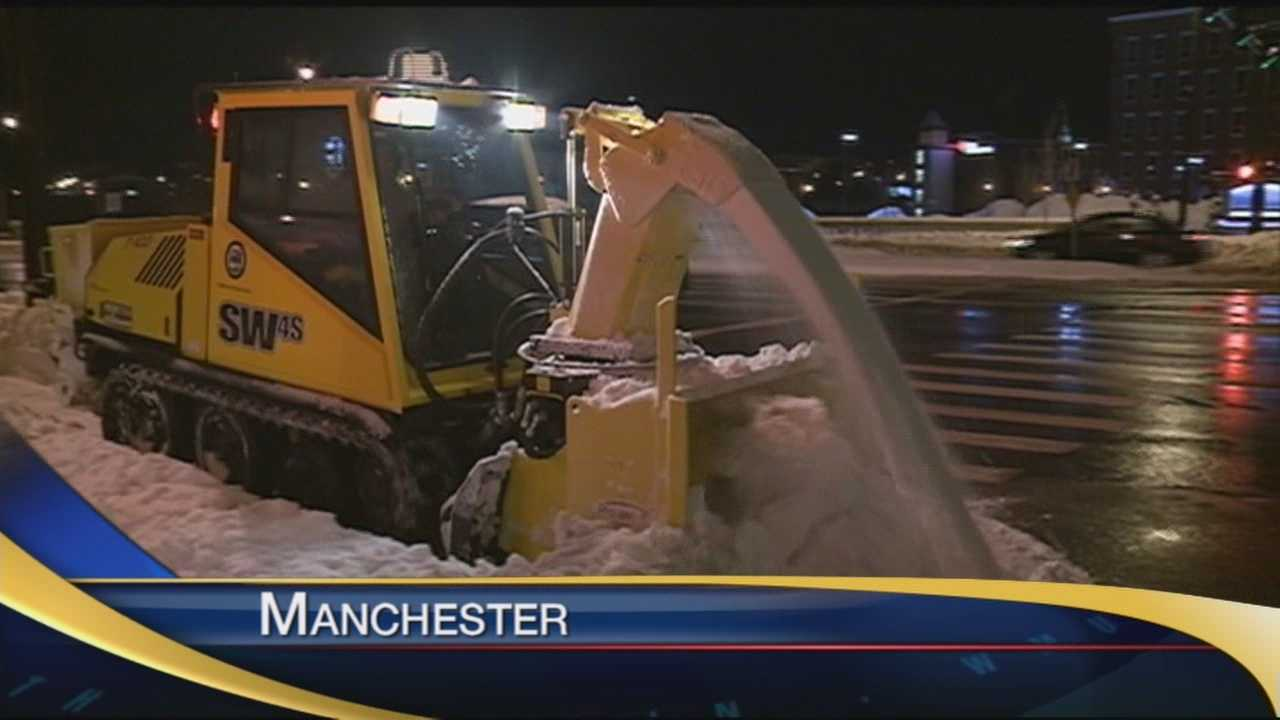 The Granite State started digging out Sunday after a weekend winter storm.