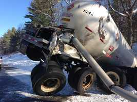 A propane tanker crash forced the closure of Interstate 293.