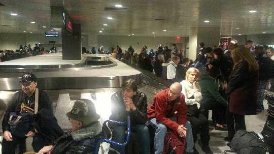 Lufthansa stuck passengers Logan 121713