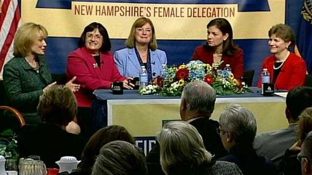 New Hampshire made history when it became the first state to elect an all-women delegation.Read more: http://www.wmur.com/news/politics/State-s-all-female-delegation-discusses-history-politics/-/9857748/17693634/-/3ryioiz/-/index.html