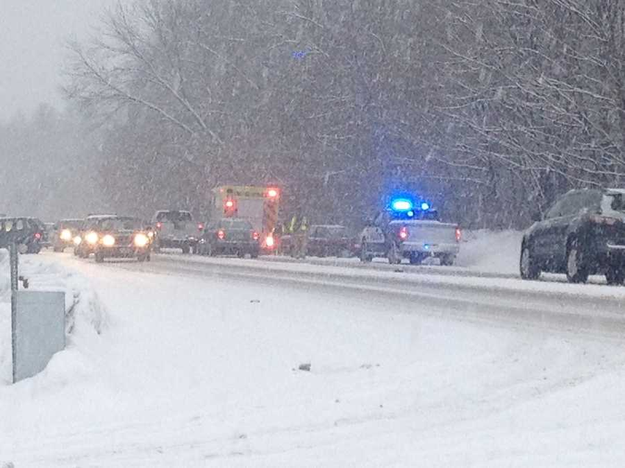An accident on Route 125 in Lee.