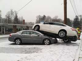 No injuries were reported in this crash in Exeter.