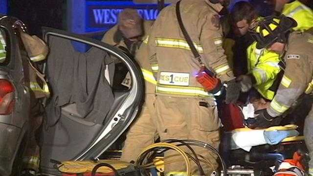 Manchester police responded to a serious crash on the west side late Tuesday night.