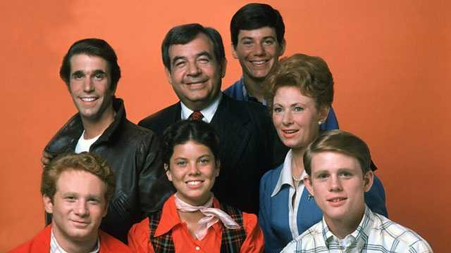 Happy Days sitcom cast photo