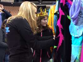 Visually impaired children got a unique experience Thursday behind the scenes at the Disney on Ice show.