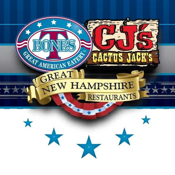 Tie-10) Cactus Jack's in Derry, Hudson, Laconia, Manchester and Salem