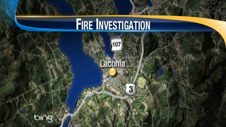 map-Laconia laundry truck fire