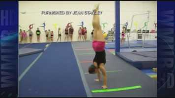 Jennifer Stanley from Tumble Town Gymnastics in Manchester set the world record for most consecutive handstand pirouettes with 30 in a row.