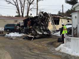 Firefighters responded to a fire at a mobile home at 11 Mobile Drive on Friday morning.