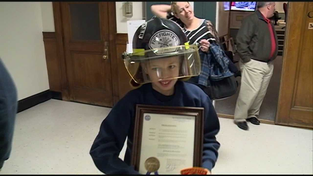 Rochester honorary firefighter boy
