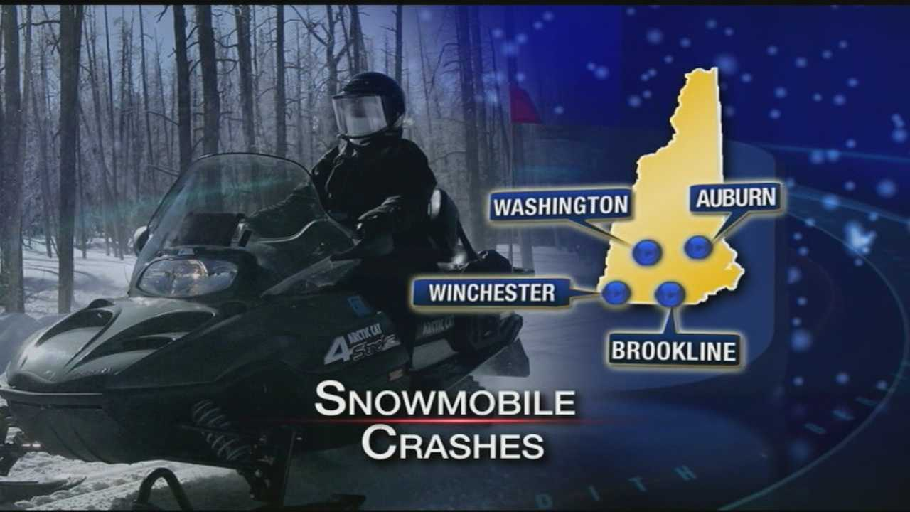 Several snowmobile crashes reported in the state