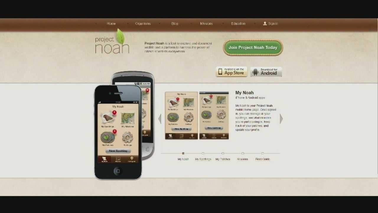 The Project Noah app offers a fun and educational way to get kids off the couch and into the great outdoors.