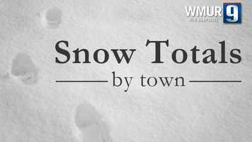 As the numbers continue to come in, take a look at some of the snow totals from towns across New Hampshire.