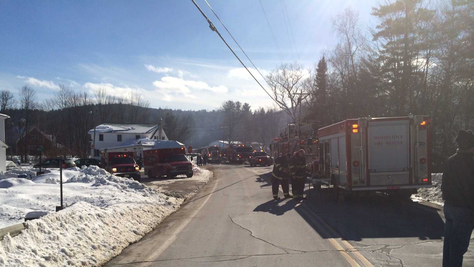 A barn caught fire at 2147 US Route 3 Saturday in Campton.
