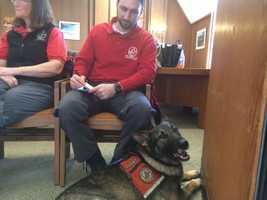 Daniel Lampignano and Jackson, of NE Search and Rescue.