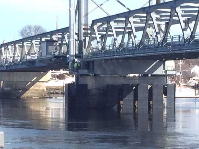An oil tanker struck a pier on the Memorial Bridge Friday morning.
