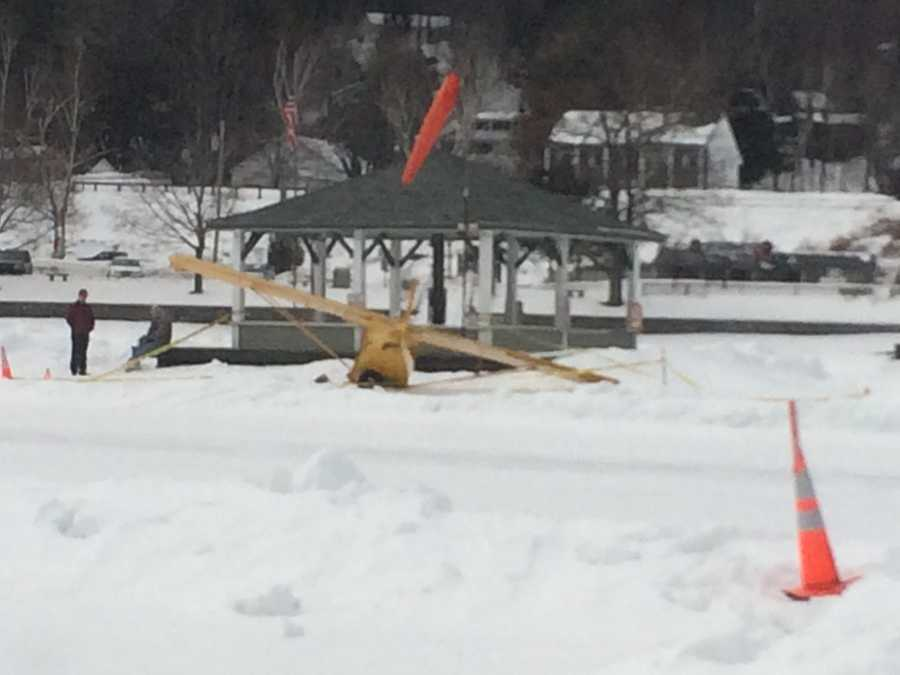 The ice runway is still operational and safe for planes to land.