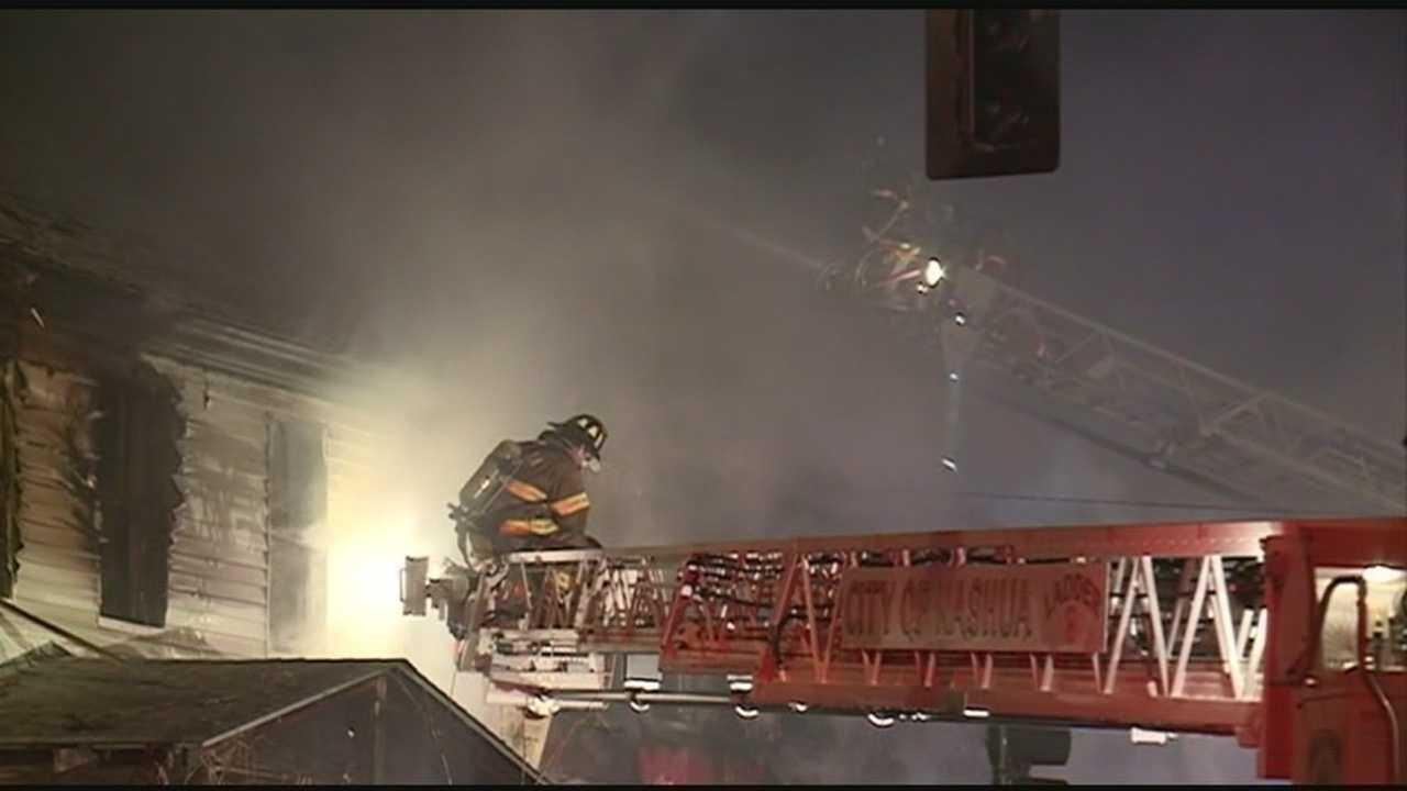 Nashua firefighters battle blaze