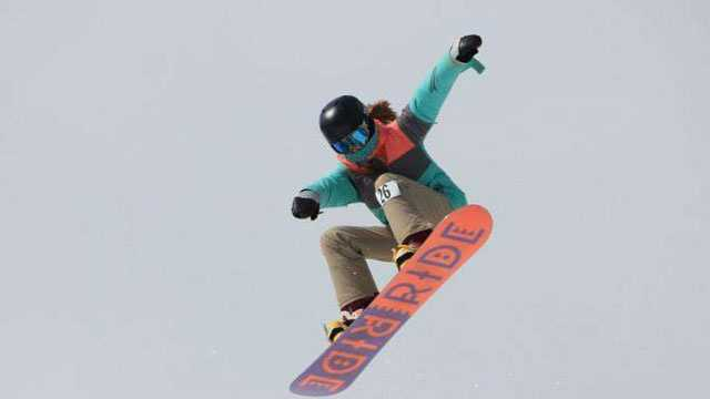 Snowboarding in Waterville Valley