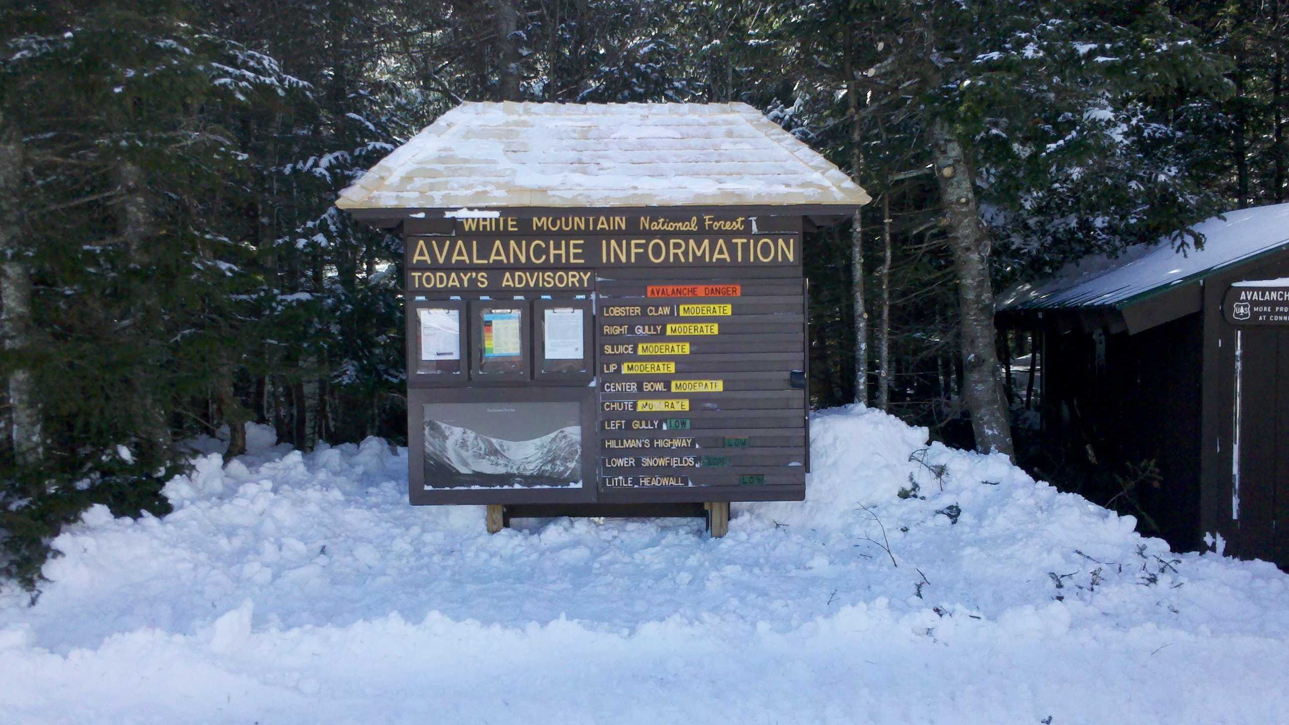 Last year's proceeds from Tuckerman Inferno adventure race helped fund this sign.